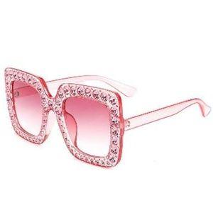 GIRL Elton Square Rhinestone Sunglasses